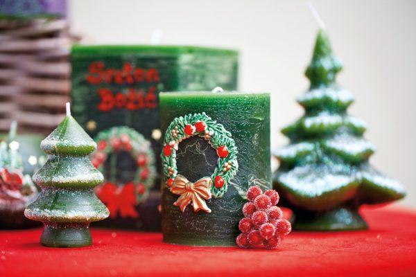 božićne sviijeće