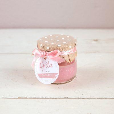 mirisna svijeća zahvalnica roza