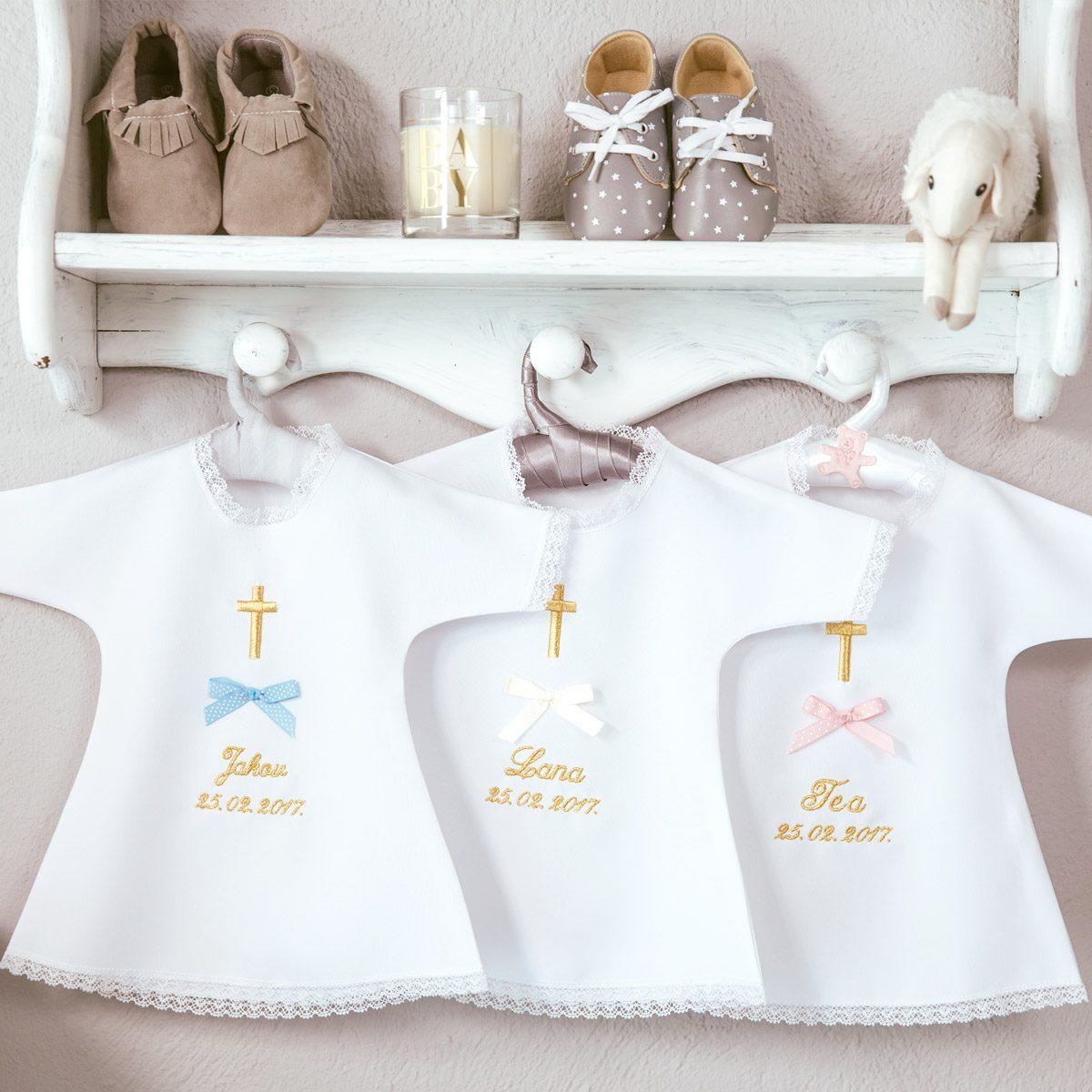 personalizirana košuljica za krštenje