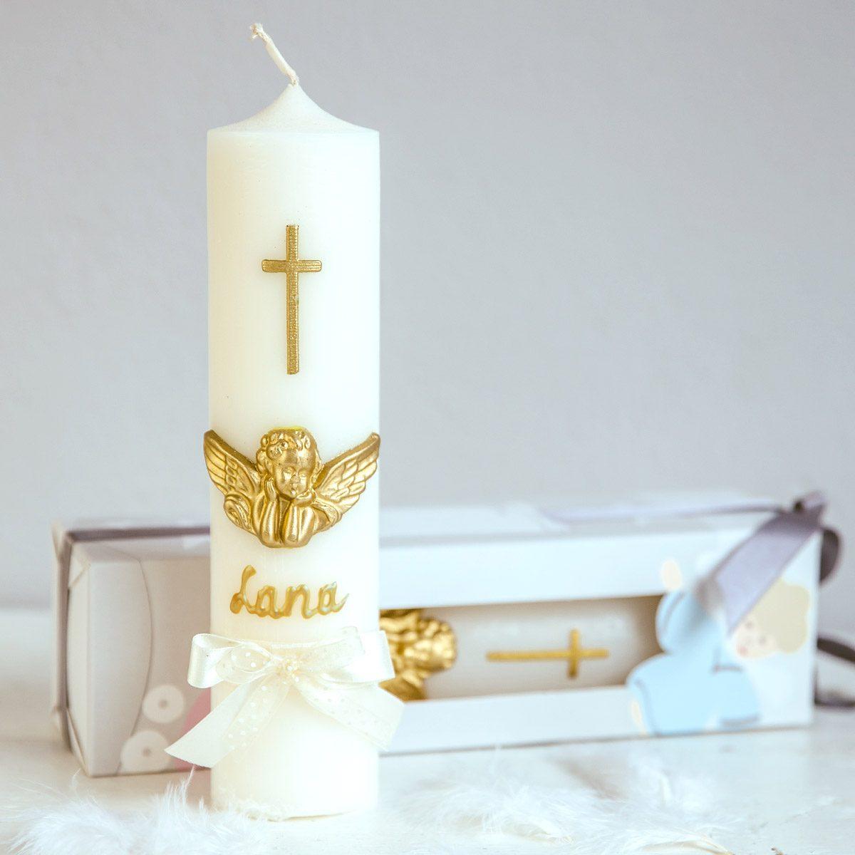 svijeca za krstenje andeo