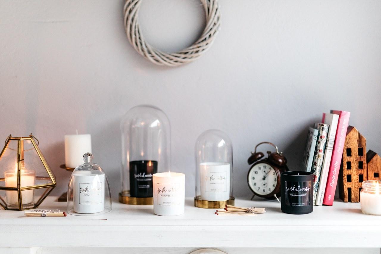 bijela mirisna svijeća