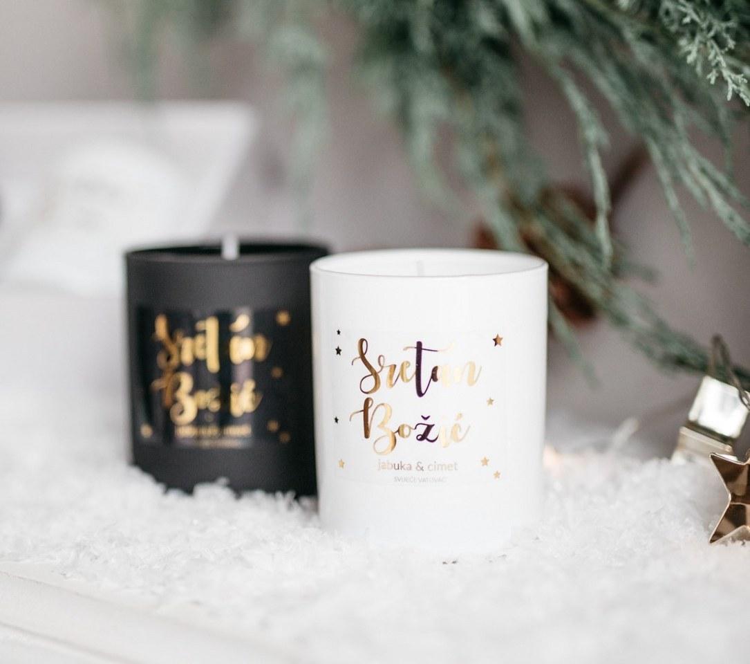 božićna svijeća bijela