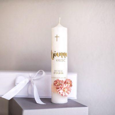 svijeća za krštenje arianna