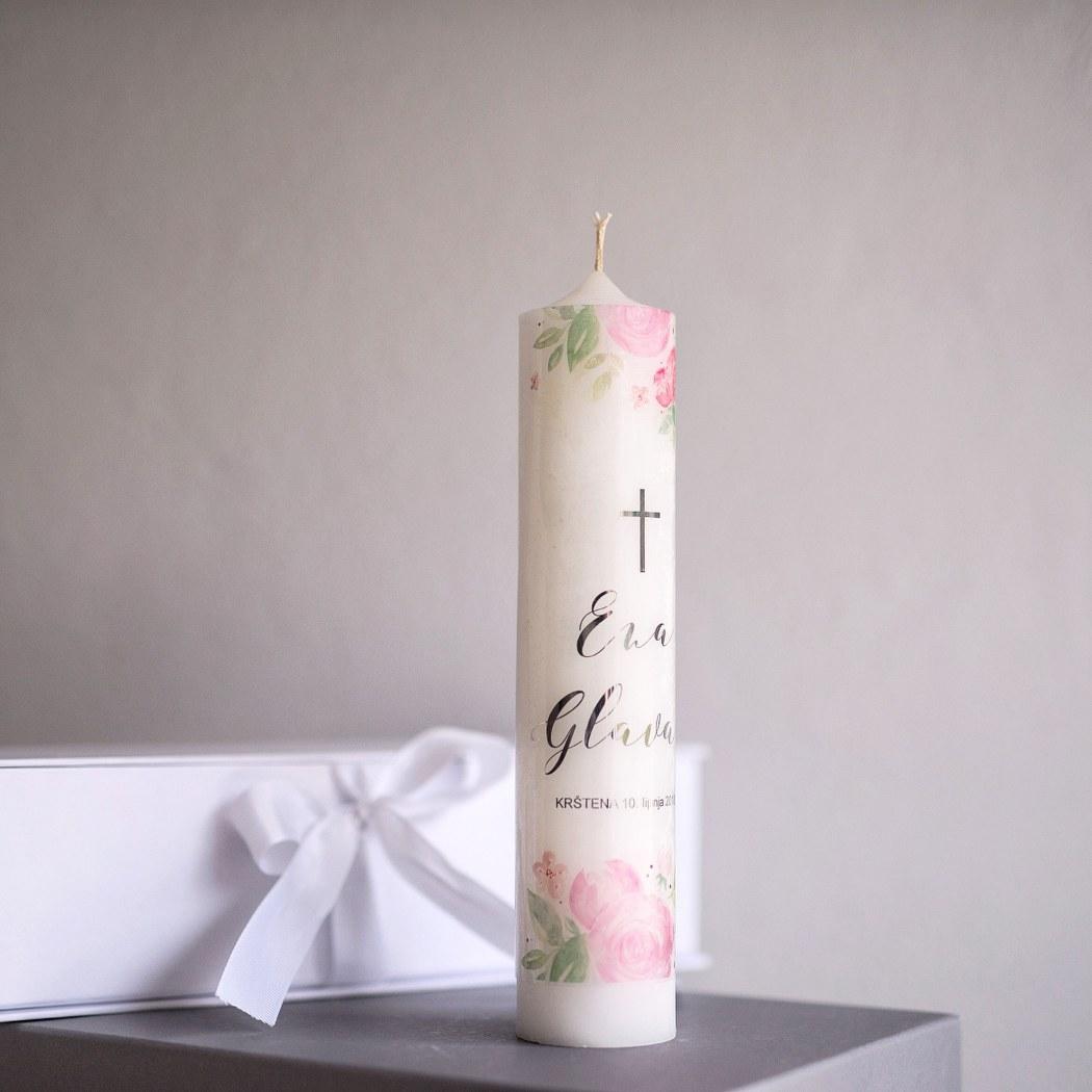 personalizirana svijeća za krštenje