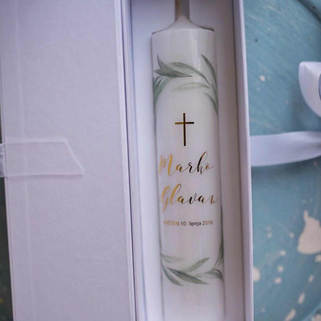 svijeća za krštenje maslina
