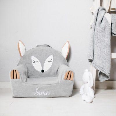 dječja fotelja lisica sa imenom