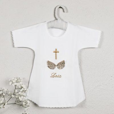 košuljica za krštenje sa imenom krilima