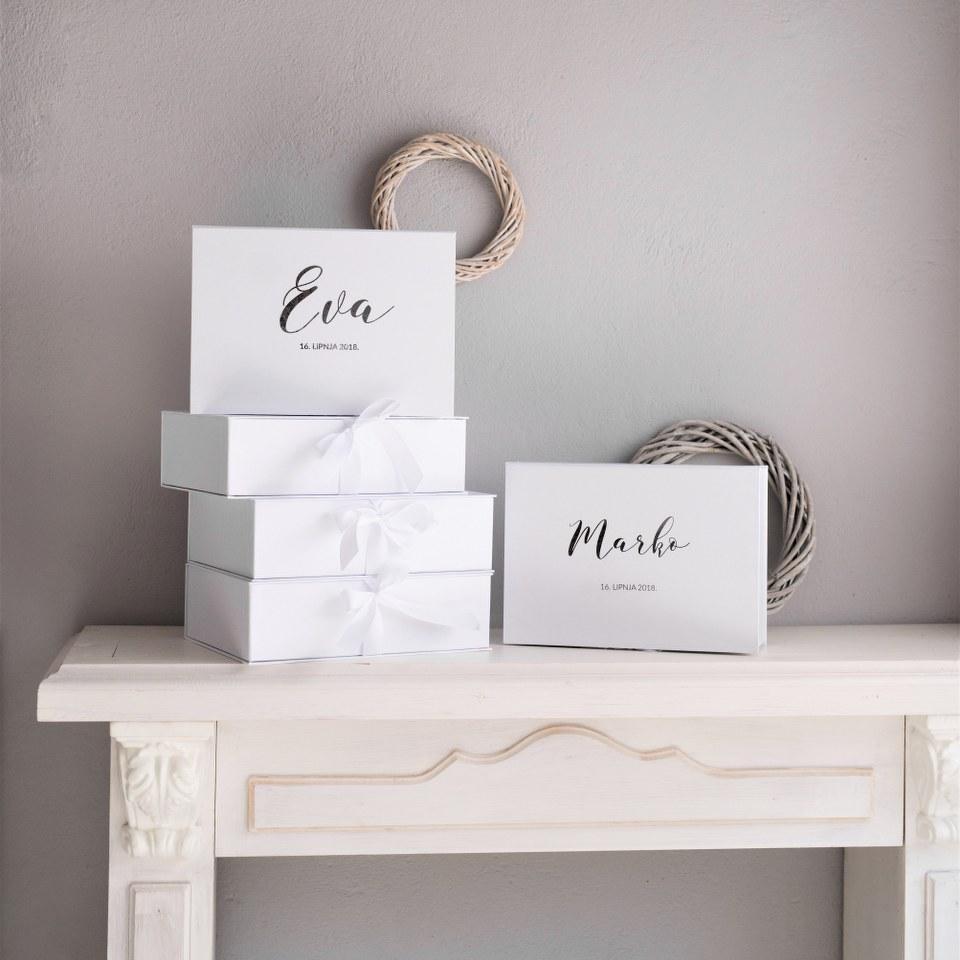 kutija za krsnu svijeću s imenom
