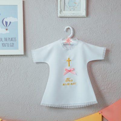 košuljica za krštenje sa izvezenim imenom i datumom