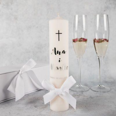 svijeća za vjenčanje sa imenima